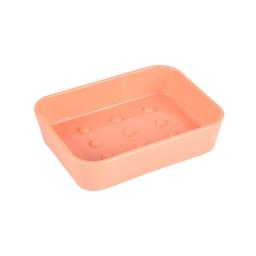 Porte-savon plastique effet soft touch vitamine Corail