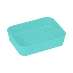porte-savon plastique effet soft touch vitamine vert menthe