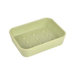 Porte-savon plastique effet soft touch vitamine Wasabi
