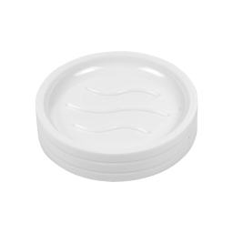 porte-savon plastique strié urban blanc