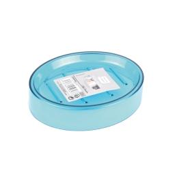 porte-savon plastique translucide vitamine bleu ocean