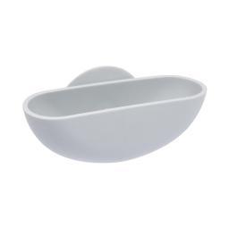 porte-savon ventouse plastique vitamine gris clair