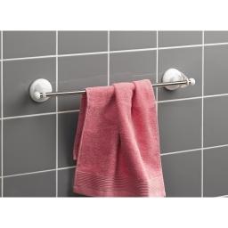 porte-serviette ventouses 1 barre metal l47cm