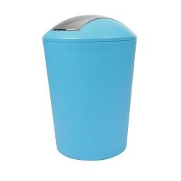 poubelle a bascule flic-flac plastique 5,6l vitamine bleu ocean