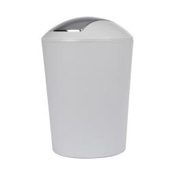 poubelle a bascule flic-flac plastique 5,6l vitamine gris clair