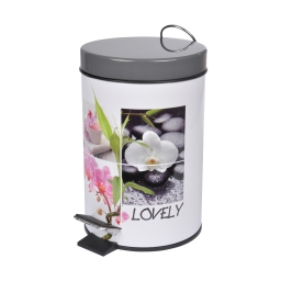 poubelle a pedale metal 3l lovely