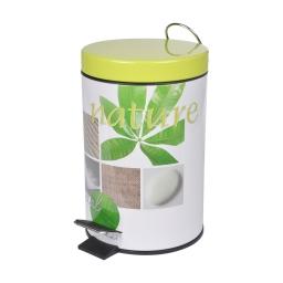 poubelle a pedale metal 3l vegetal