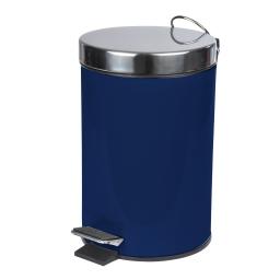 poubelle a pedale metal 3l vitamine indigo
