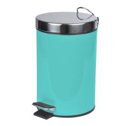 poubelle a pedale metal 3l vitamine vert menthe