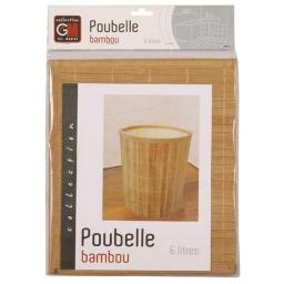 poubelle bambou vernis naturel 6l