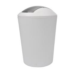 poubelle flic flac 5.6l blc couvercle chromé douceur d'interieur theme vitamine