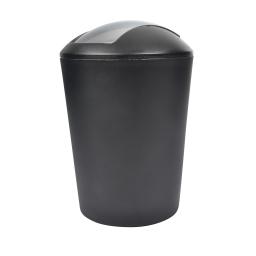 poubelle flic flac 5.6l noir couvercle chromé douceur d'interieur theme vitamine