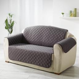 Protege fauteuil matelasse 165 x 179 cm microfibre unie club Anthracite
