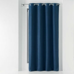 Rideau a oeillets 135 x 240 cm occultant chambray uni chinea Bleu