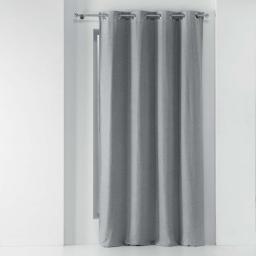 Rideau a oeillets 135 x 240 cm occultant chambray uni chinea Gris