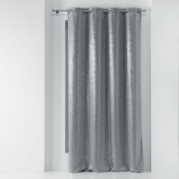 Rideau a oeillets 135 x 240 cm occultant Genesis Gris/argent