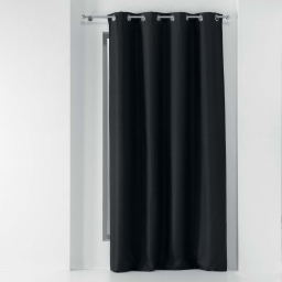 Rideau a oeillets 135 x 240 cm occultant tisse tissea Anthracite