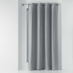 Rideau a oeillets 135 x 280 cm occultant chambray uni chinea Gris