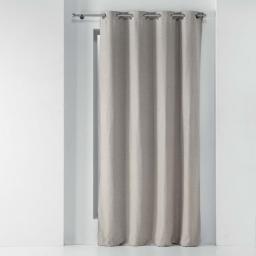Rideau a oeillets 135 x 280 cm occultant chambray uni chinea Lin