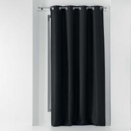 Rideau a oeillets 135 x 280 cm occultant tisse tissea Anthracite