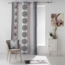 rideau a oeillets 140 x 240 cm coton imprime angeline