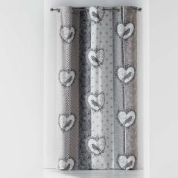 rideau a oeillets 140 x 240 cm coton imprime love birds