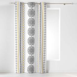 rideau a oeillets 140 x 240 cm coton imprimé meridiana