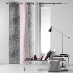 Rideau a oeillets 140 x 240 cm coton imprime textilio Rose