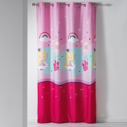 rideau a oeillets 140 x 240 cm microfibre imprimee jolie fee