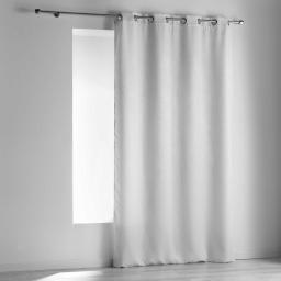 Rideau a oeillets 140 x 240 cm occultant velours frappe dreamtime Blanc