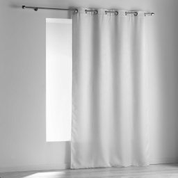 Rideau a oeillets 140 x 240 cm occultant velours frappe nighty Blanc
