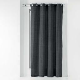 Rideau a oeillets 140 x 240 cm polycoton uni texas Anthracite