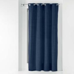 Rideau a oeillets 140 x 240 cm polycoton uni texas Bleu