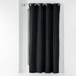 Rideau a oeillets 140 x 240 cm polycoton uni texas Noir