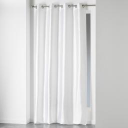 Rideau a oeillets 140 x 240 cm shantung uni shana Blanc