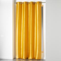 Rideau a oeillets 140 x 240 cm shantung uni shana Moutarde