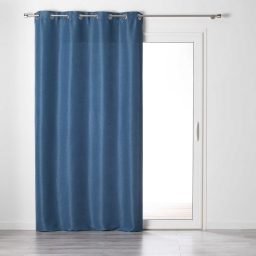 Rideau a oeillets 140 x 240 cm tamisant chambray glory Indigo