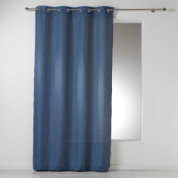 Rideau a oeillets 140 x 260 cm chambray uni select Bleu