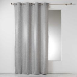 Rideau a oeillets 140 x 260 cm chambray uni select Gris