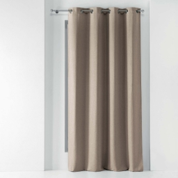 Rideau a oeillets 140 x 260 cm chambray uni solena Lin