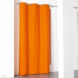 Rideau a oeillets 140 x 260 cm coton uni popsys Orange