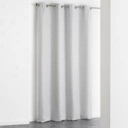 Rideau a oeillets 140 x 260 cm jacquard adamo Gris