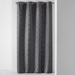 Rideau a oeillets 140 x 260 cm jacquard cosmy Anthracite