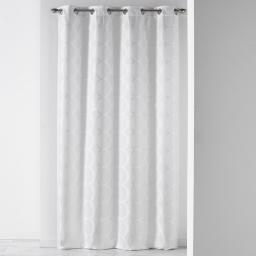 Rideau a oeillets 140 x 260 cm jacquard cosmy Blanc