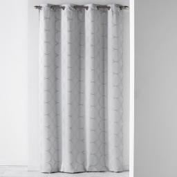 Rideau a oeillets 140 x 260 cm jacquard cosmy Gris