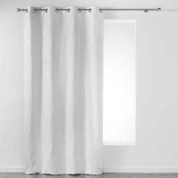 Rideau a oeillets 140 x 260 cm jacquard etoiline Blanc