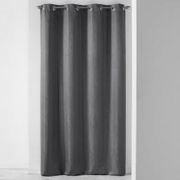 Rideau a oeillets 140 x 260 cm jacquard liany Anthracite