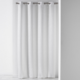 Rideau a oeillets 140 x 260 cm jacquard liany Blanc