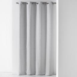 Rideau a oeillets 140 x 260 cm jacquard liany Gris