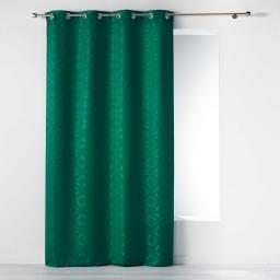 Rideau a oeillets 140 x 260 cm jacquard majestic Vert